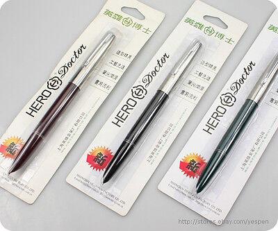Lot 9 HERO 616 Doctor Jumbo Fountain Pen Classic Hero Pens