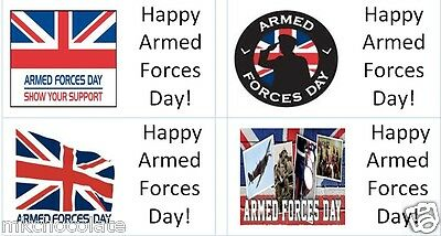 40 x Armed Forces Day//Military//Navy//Army labels//stickers cakes// gift bags//sweets