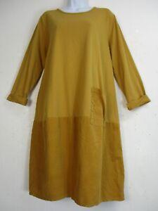 95-Coton-Lagenlook-a-manches-longues-robe-automne-hiver-taille-unique-plus-18-22