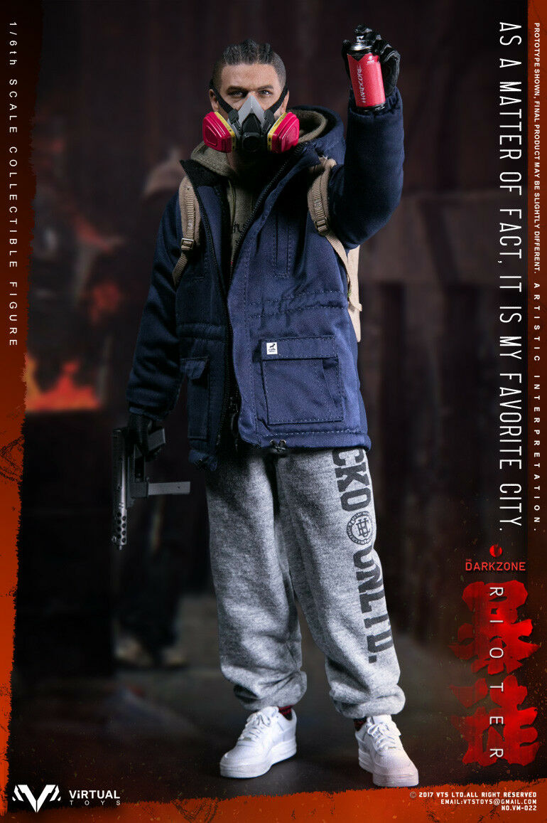 12'' Male Action Figure Model VTS Toys 1/6 VM-022 The Darkzone Rioter Doll Toys