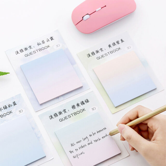 GI- Qu_ Self Adhesive Memo Pad Sticker Sticky Note Notepad Marker Planner Statio