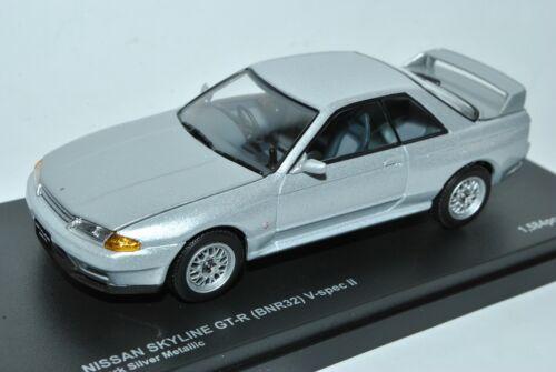Nissan Skyline GT-R R32 BNR32 V-Spec II Coupe Silber 1989-1993 1//43 Kyosho Mod..