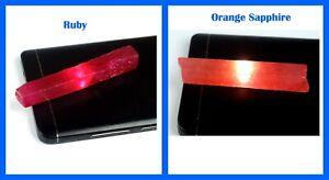 Festive Offers 120 Ct+ Orange Sapphire & Ruby Gemstone Slice Rough Pair Natural
