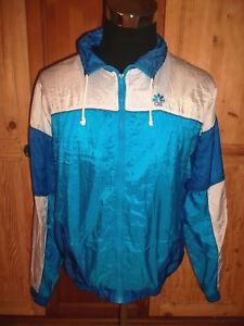 vintage-80-s-CSS-Nylon-Jacke-sports-jacket-shiny-oldschool-Trainingsjacke-L