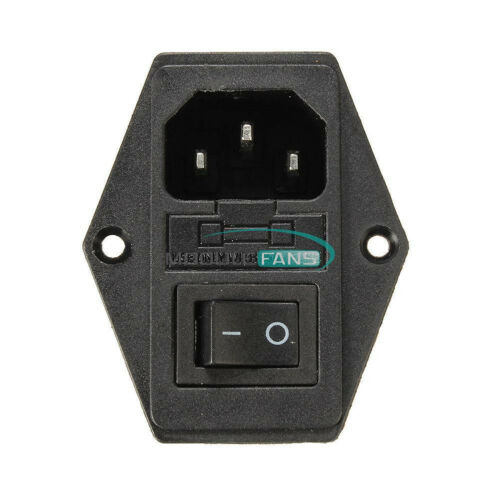 5.5x2.1mm DC 022 Power Outlet Jack Socket Connector //3 in 1 Fuse AC 250V 10A