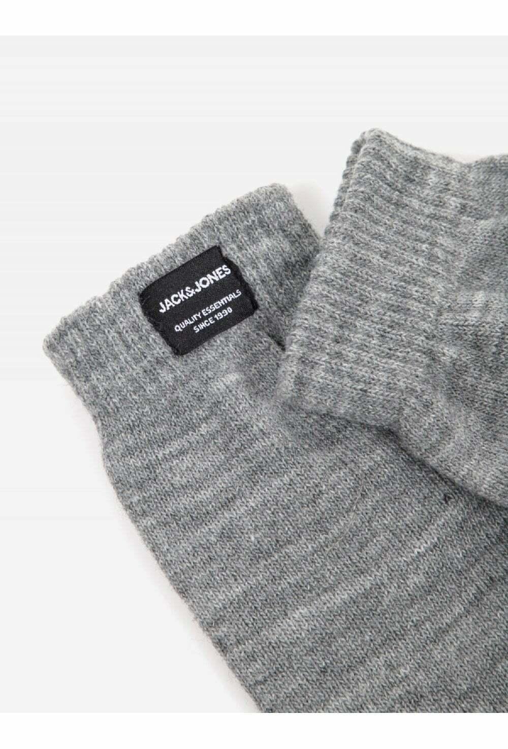 Jack And Jones Jachenry Knit Gloves Grey Melange