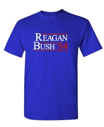 REAGAN BUSH 84 Mens Cotton T-Shirt retro funny july 4th usa