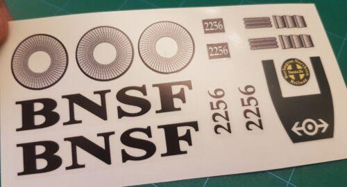 Replacement Lego 10133 Burlington Northern Santa Fe BNSF GP-38 Santa Fe Stickers