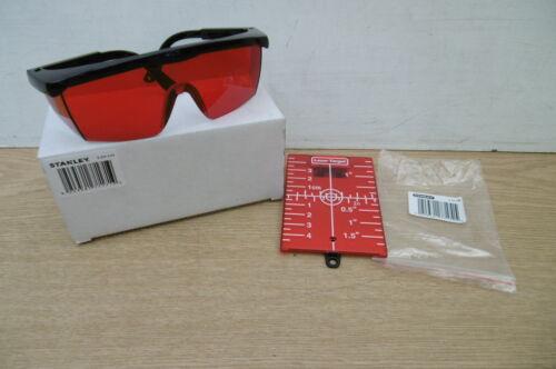 STANLEY LASER GLASSES 1 77 171 /& TARGET CARD FOR LASER LEVELS 1 77 170