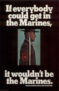 Vintage U S Marines Recruiting Poster Quot A Few Good Men