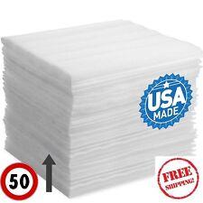 50 PK 12 X12 Foam Wrap Sheets Cushioning Moving Storage Packing Supply