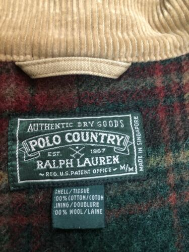 Rare ! Vintage polo County (green Label) Duster Co