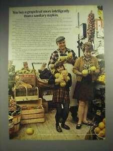 1970 Modess Sanitary Napkin Ad - Buy Grapefruit