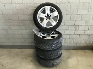 Satz-Alufelgen-MIT-Winterreifen-Mercedes-benz-A-klasse-Dunlop-SP-Wintersport