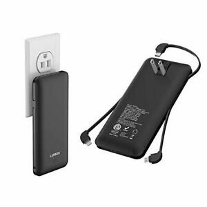 10000 mAh Portable Charger Power Bank Ultra Slim External Battery Pack with B...