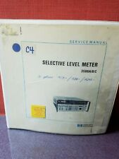 Hp Service Manual 03586 90001 Selective Level Meter 3586abc 3887