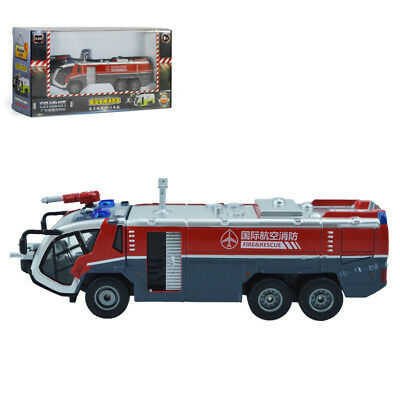 KDW 1:50 Scale Diecast Airfield Water Cannon Fire Truck Cars Model Toy Red