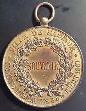 FRANCE - Médaille SOUVENIR Concours Musical Juillet 1887 VILLE DE SAUMUR / Rare