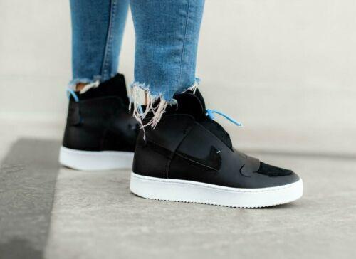 Mujeres Nike arrasado Size UK 3.5 EUR 36.5 (001) BQ3610 Negro/azul claro