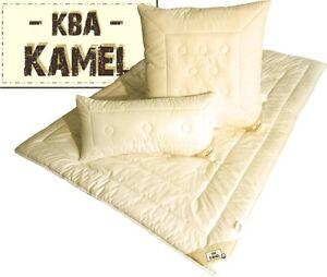 Kamelhaar Decke 135x200 cm mit KBA Baumwolle Leichtsteppbet<wbr/>t schadstoffrei neu