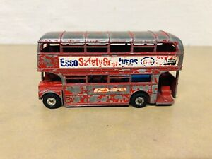 VINTAGE-DINKY-TOYS-DIE-CAST-RED-ROUTE-MASTER-DOUBLE-DECKER-BUS-ESSO-ENGLAND