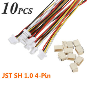 10sets-Micro-JST-1-0mm-SH-4-Pin-Housing-Male-Female-Connector-Plug-With-Wires