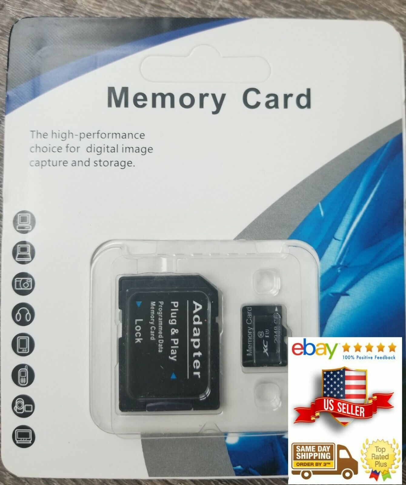 U1 16GB LONDISK 16GB Memory Card U1 Micro SD Card with SD Adapter for HD Video Play