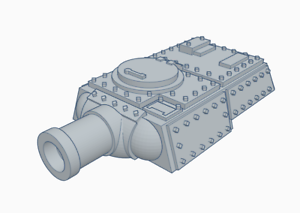 Heavy-Tank-Turret-with-Siege-Cannon-Triple-Squadron-Pack-Culverin-Models