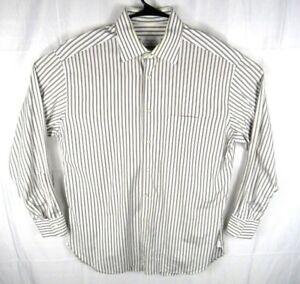 Ermenegildo-Zegna-Dress-Shirt-Mens-42-16-5-Button-Up-Long-Sleeve-Stripes