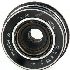 Industar-69-28mm-f2-8-UdSSR-Pancake-Weitwinkel-Objektiv-M39-28-2-8-MMZ-Lomo-Chaika