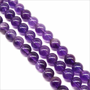 Lot-de-30-Perles-Pierres-Naturelles-Amethyste-8mm