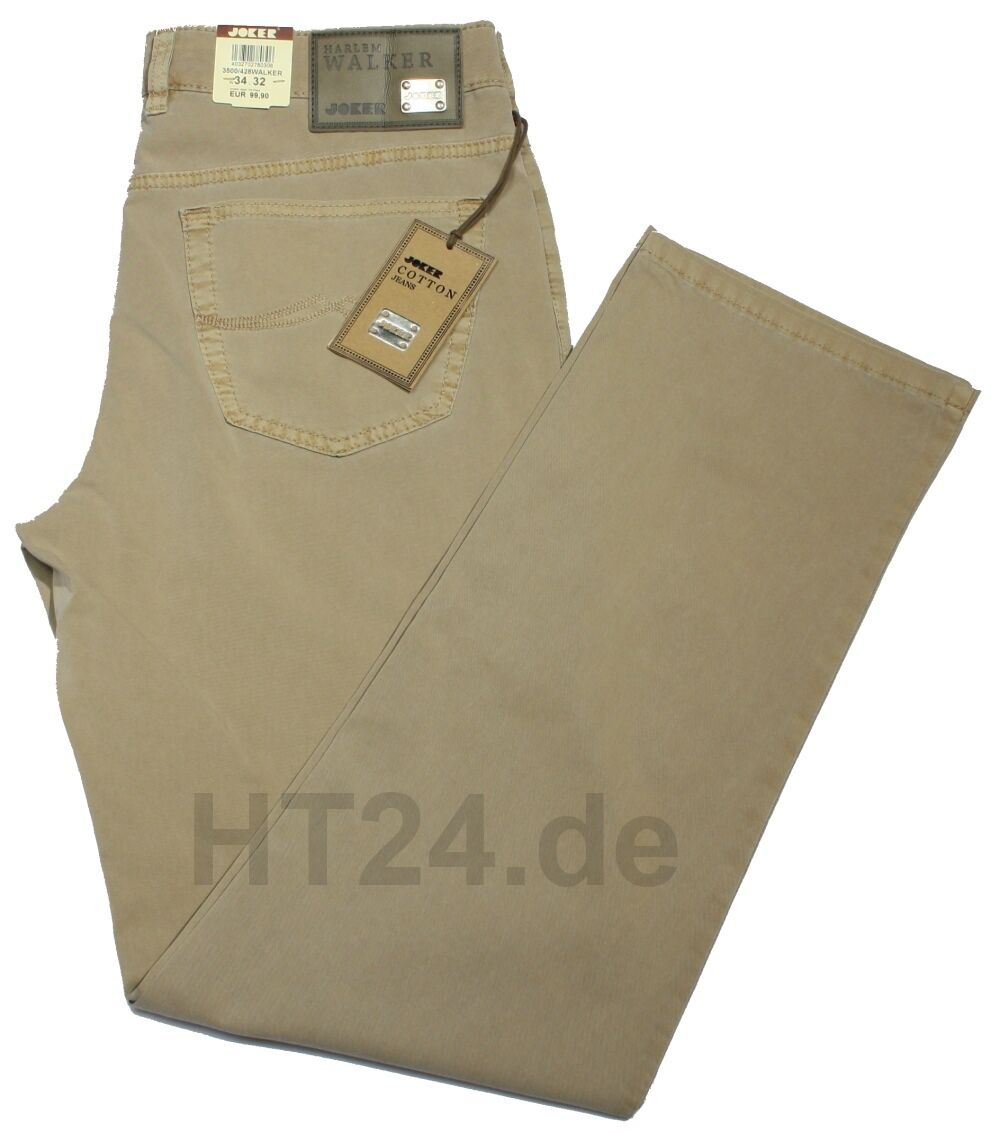 JOKER Harlem WALKER 3500-428 Jeans W33 L36 croissant  leichte Fein-Gabardine
