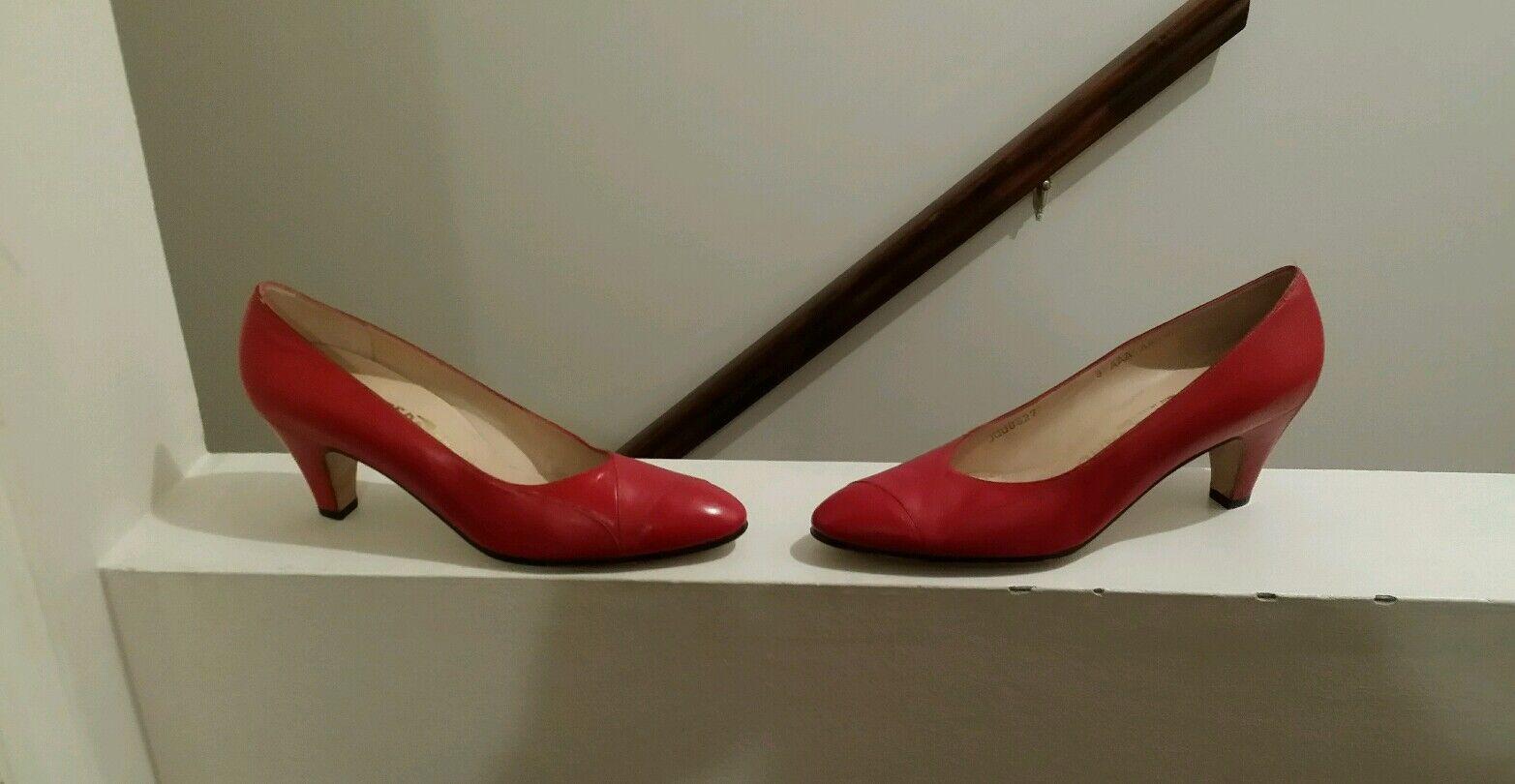 Salvatone Ferragamo Ferragamo Ferragamo Womans rot Designer Größe 8 Pumps ebfe43