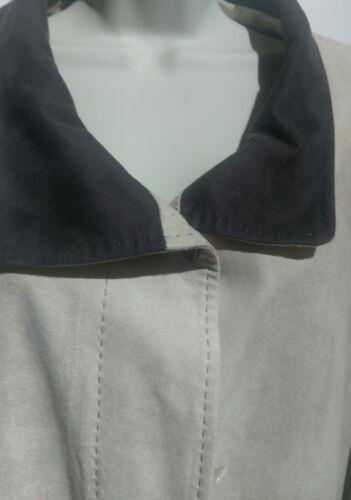 Faux Suede j Elvi Cond 3 Size Ladies Coat Ex fPRqxwnZ