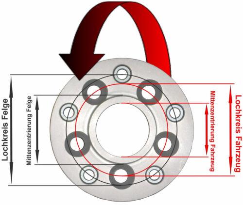H/&R Lochkreisadapter 5x114,3mm//67,1 auf Felge 5x112mm//57,1 50mm 50655671