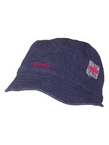 Caricamento dell immagine in corso harrods-knightsbridge-cappello-berretto- donna-blu-denim-taglia- 8b81d7cc8d33