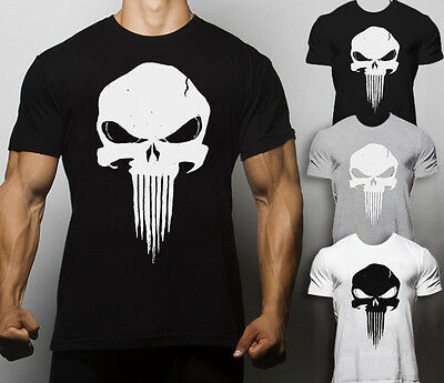 Vendita Economica Punisher T Shirt Crossfit Allenamento Training Monster Palestra Ratto Supereroe Superman-mostra Il Titolo Originale