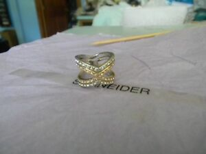 e769f75eea41 Premier Designs DOUBLE VISION gold crystal 3pc ring set sz 8 RV  53 ...
