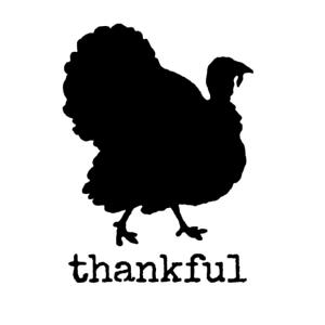 Stencil Thanksgiving Thankful Turkey