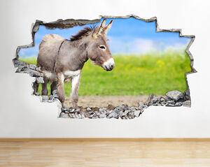 B105-A-ne-animaux-Nursery-Enfants-Nature-S-Autocollant-Chambre-3D-Vinyle-enfants