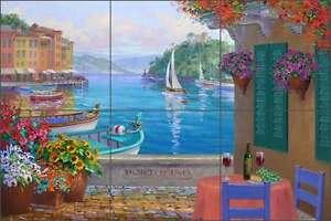 Ceramic-Tile-Mural-Backsplash-Senkarik-Portofino-Mediterranean-Seascape-MSA144