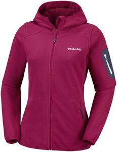 COLUMBIA-Outdoor-Novelty-EL1023623-Warm-Full-Zip-Fleece-Jacket-Hooded-Womens-New