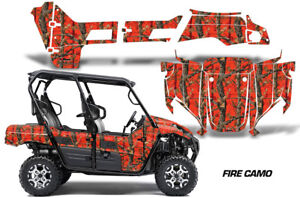 Details about UTV Graphics Kit Decal Sticker Wrap For Kawasaki Teryx4 800  2016-2018 FIRE CAMO