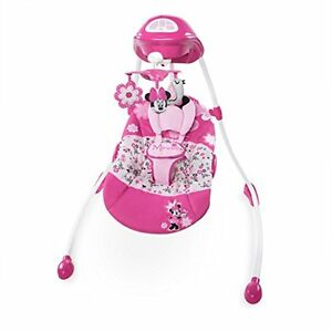 Disney minnie mouse garden delights swing pink minnie for Baby garden swing amazon