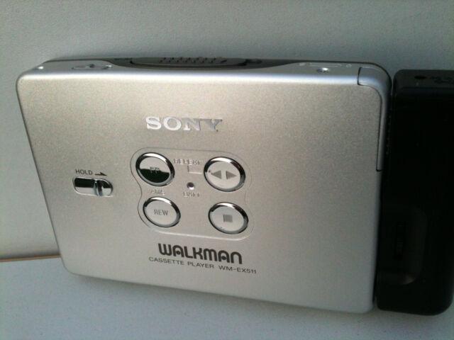 SONY WM-EX511 Walkman Cassette Player Kassettenspieler Adapter Battery metal all