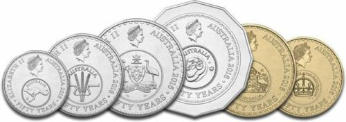 2016 Decimal Changeover Mint Unciculated Complete Set 6 Coins