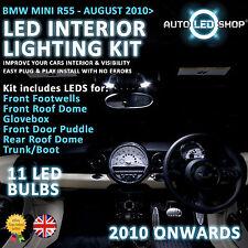 BMW MINI R56 2010  LED INTERIOR COMPLETE FULL KIT SET BULB XENON WHITE COOPER S
