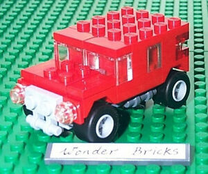 Details about Lego Mini JEEP / HUMMER from 7602 Remake in Red