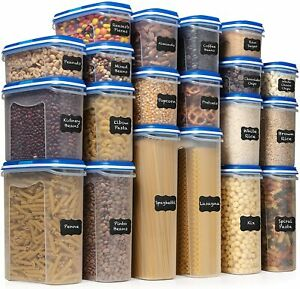 LARGEST Set of 40Pc Food Storage Containers(20 Container Set)Airtight $90 Retail