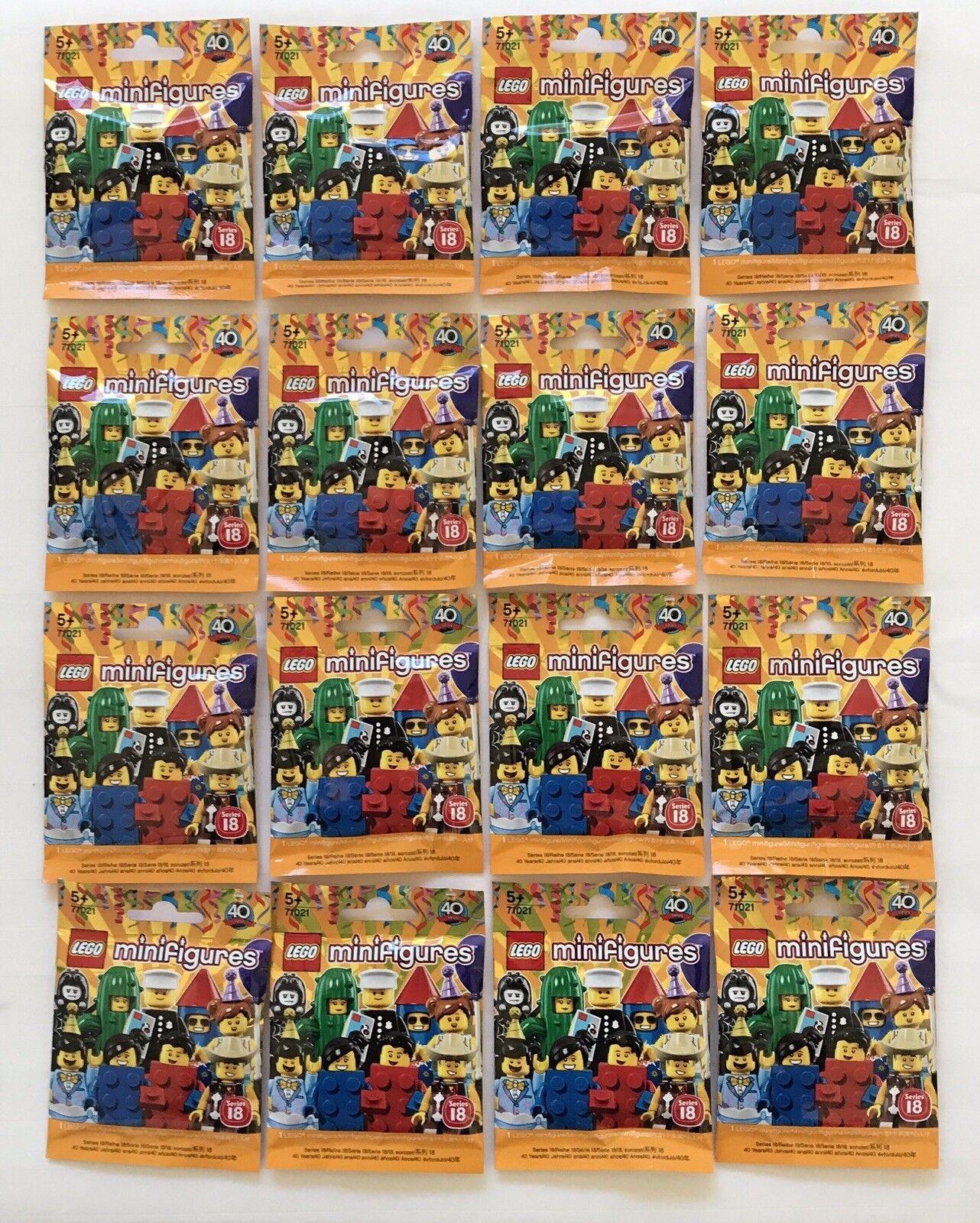 Lego Minifigures (71021) - Serie 18-juego completo de 16 Figuras Sellado-sin policía